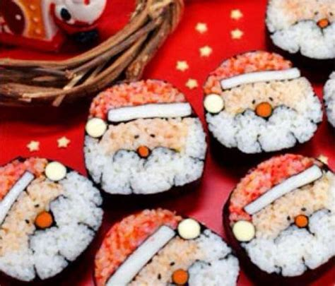 sushi suitable for christmas visual ioner