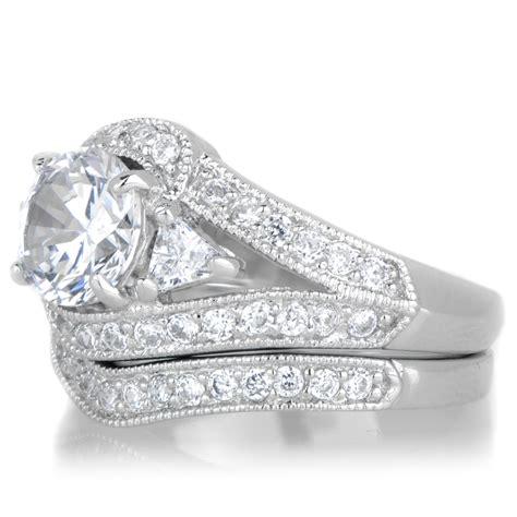 lola s vintage style wedding ring set
