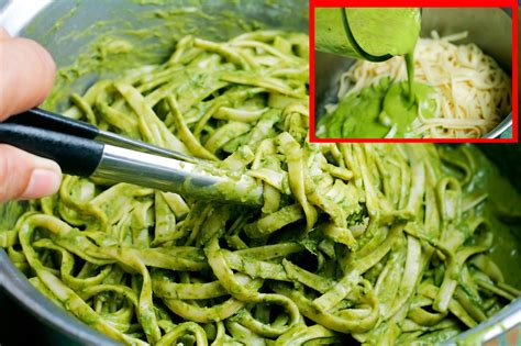 making green how to make green spaghetti with basil pesto 5 steps