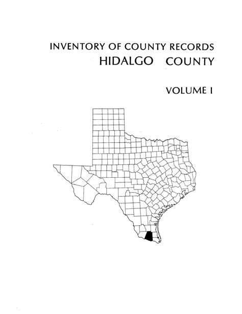 Hidalgo County Records Inventory Of County Records Hidalgo County Courthouse Edinburgh Volume 1