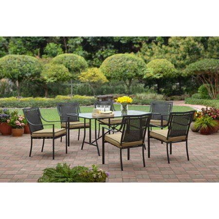 patio dining set seats 6 braddock heights 7 patio dining set seats 6