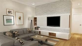 led le wohnzimmer fernseher an wand montieren die eleganteste variante