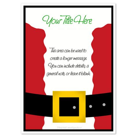 santa card template santa suit invitations cards on pingg
