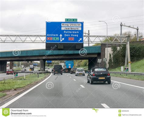 netherlands motorway map information route map pole of mass rapid transit authority of th editorial photo cartoondealer