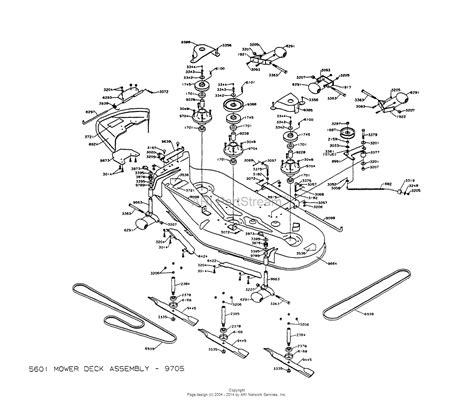 dixon mower parts diagram dixon ztr 5601 1997 parts diagram for mower deck assembly