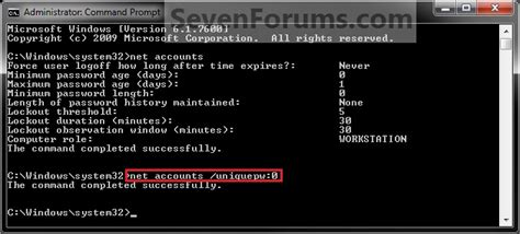 how to enable the password password history enforcement enable or disable windows