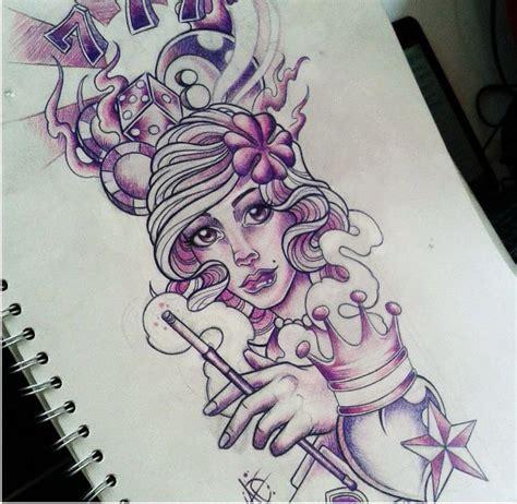 new school pin up girl tattoo designs aaron