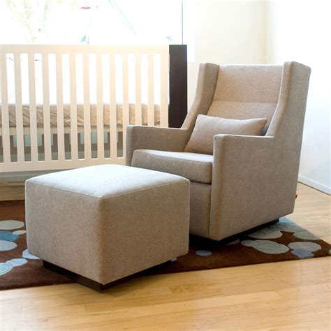 Nursery Chair And Stool by Ottoman Glider Rocking Chair Plushemisphere