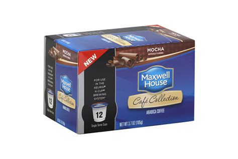 k cup carbohydrates maxwell house mocha coffee k cup r packs 12 ct box