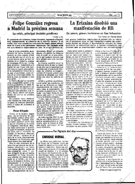 Periódico ABC MADRID 15-08-1984,portada - Archivo ABC