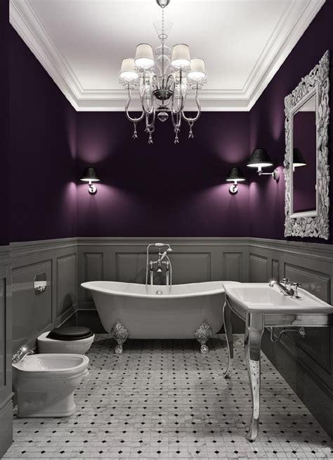 Purple and gray bathroom archives sarah rae vargas