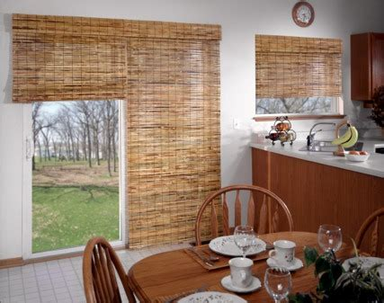 Bamboo Shades For Sliding Glass Doors Curtains Decorating Ideas And Solutions