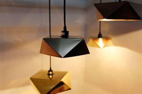 Origami Lights - origami light by valo nobue kamahara shaped by folds