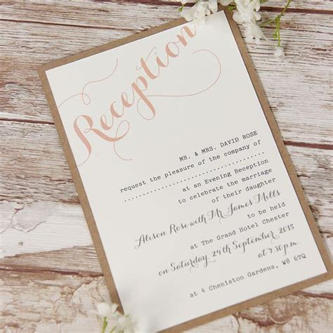 wedding invitations evening pink flower lace rustic wedding evening invitation cartalia