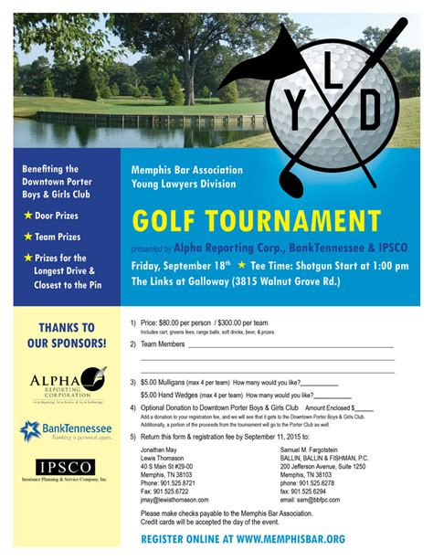 Mba Bar Association by 2015 Mba Yld Golf Tournament