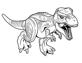 t rex lego page coloring pages