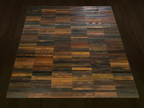 unique flooring made from leather belts 171 twistedsifter