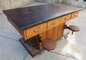 antique kitchen island vintage oak wood chemistry lab school table kitchen island maple top vintage labs and woods