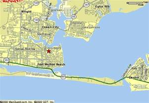fort walton map