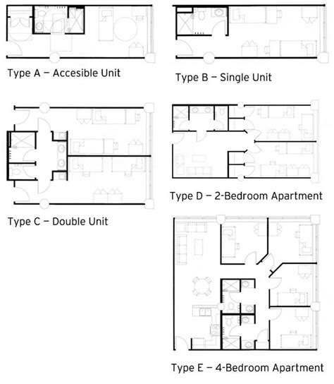 Tiny Bathroom Design click here to see the layouts for each dorm room type