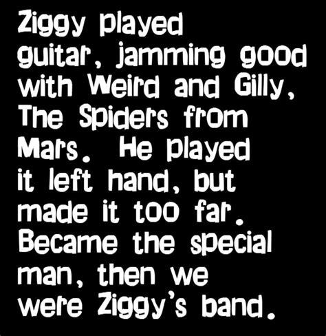lyrics david bowie david bowie ziggy stardust song lyrics lyrics