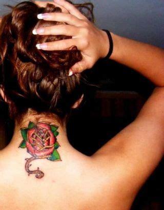 rose back of neck tattoodenenasvalencia