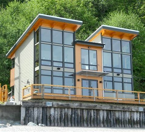 Timber Frame Cabin Built on a Waterfront