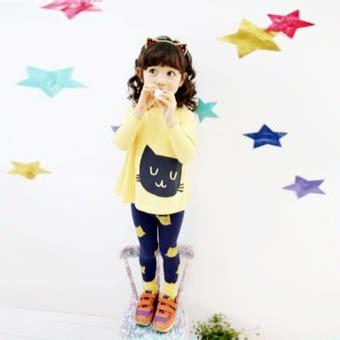 Atasan Anak Lengan Panjang Kuning tz 3487 bayi lengan pendek t shirt celana biru daftar