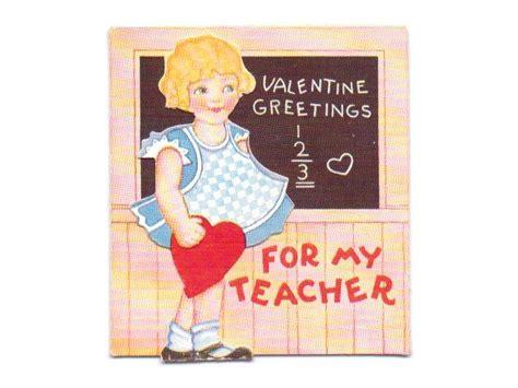 valentines card greetings for teachers vintage card vintage sandycreekcollectables