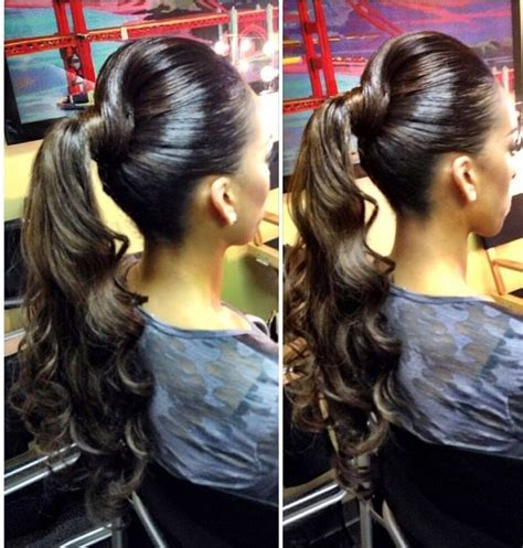 which weave is best for ponytails 33 best images about buns bangs ponytails updos on