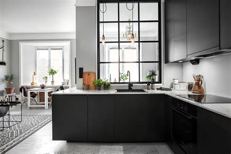 black kitchen walls decordots grey walls and a steel framed indoor window