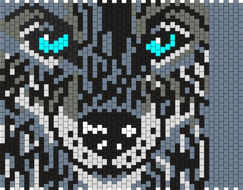 wolf perler bead pattern wolf 2 bead pattern peyote bead patterns animals