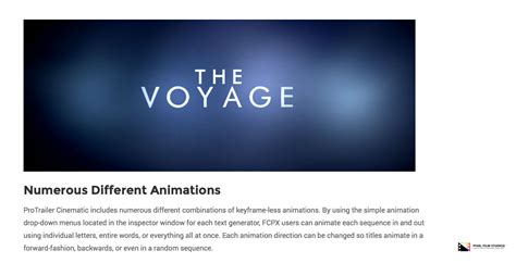 final cut pro trailer pixel film studios development team releases protrailer