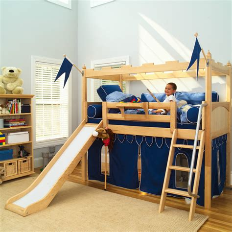 kids loft bed with slide twelve kids bedroom ideas for indoor fun maxtrix