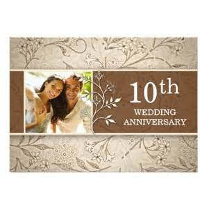 10th wedding anniversary photo invitation card