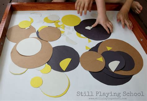 Things To Make Out Of Construction Paper - make a thing with shapes still school