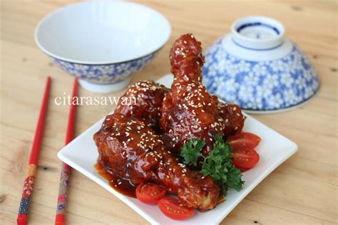 ayam goreng korea korean fried chicken resepi terbaik