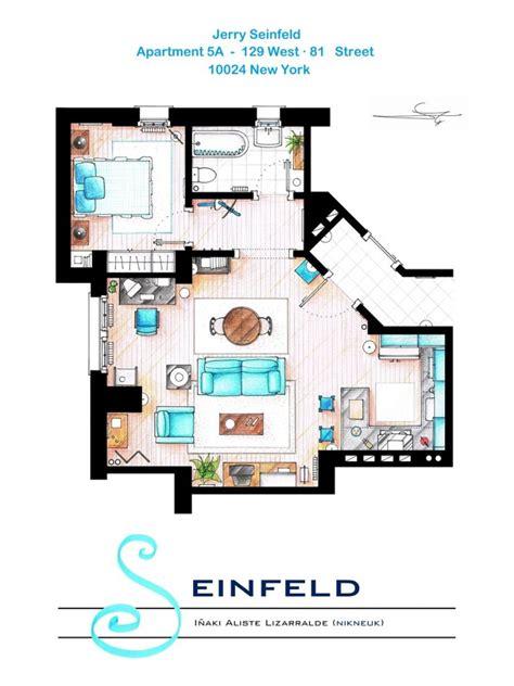 floor plan of friends apartment floor plans of your favorite tv apartments nerdist