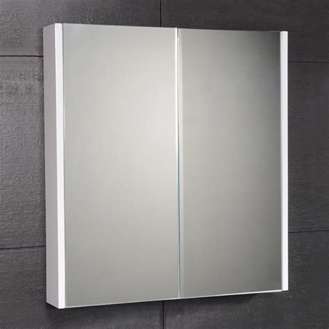 White Mirrored Bathroom Cabinets Cuba Aspen 60cm 2 Door Mirror White Cabinet
