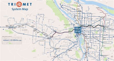 portland transit map how to design a better transit map news planetizen