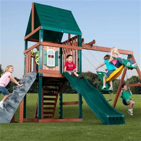 swing and slide canada swing n slide brentwood wood complete play set home