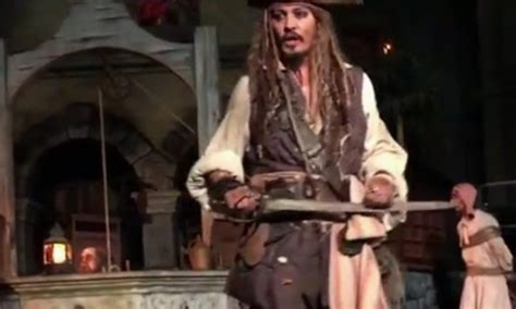 johnny depp on pirates of the caribbean disneyland ride johnny depp delights fans at pirates of the caribbean ride