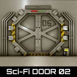 Sci Fi Door by Technological Door 3d 3ds