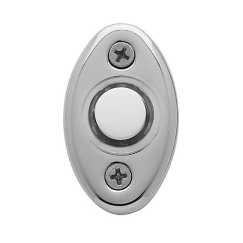 polished chrome oval bell button knobs n knockers