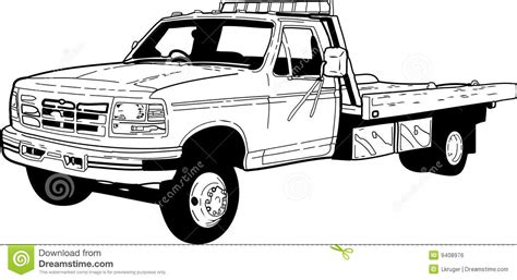 free flatbed truck coloring pages