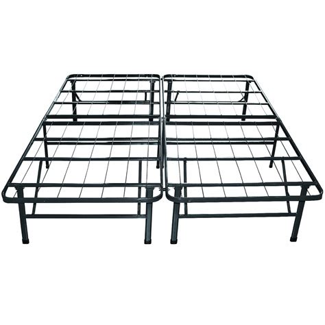Mattress On Bed Frame King Sleep Master Platform Metal Bed Frame Mattress Foundation Free Shipping Ebay