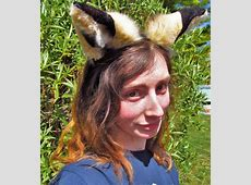 Grey Rabbit Ears! Huge Big Ear Head Band Alice in ... Female Mad Hatter Costume