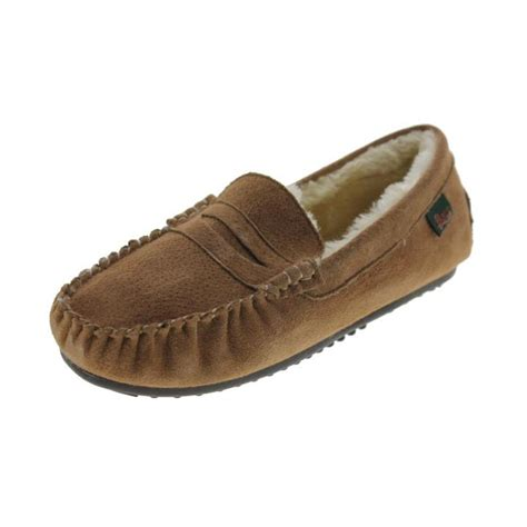 mens fur lined moccasin slippers g h bass co 6866 mens suede faux fur lined moccasin