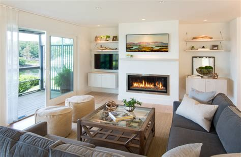 beach style living rooms stageneck modern beach style living room portland