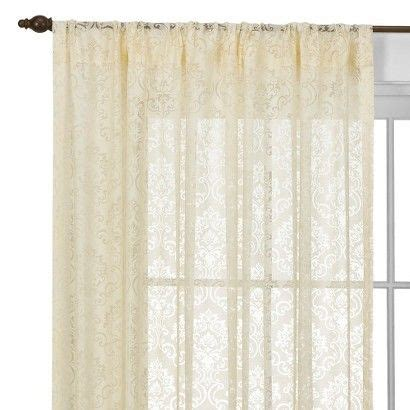 target lace curtains beaumont medallion rod pocket curtain panel curtain